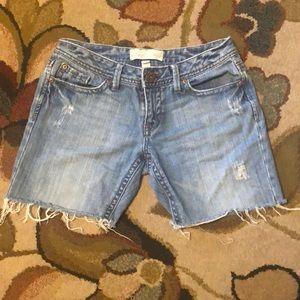 AEROPOSTALE light wash cutoff blue jean shorts